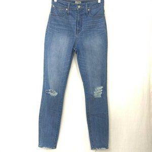 J.CREW Womens Curvy Toothpick Slim Skinny Jeans 28